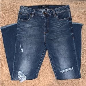 Denim ankle jeans